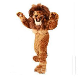 Wholesale mascots lions online – ideas 2019 Hot sale Lion Mascot Costume adult size brave Lion cartoon Costume Party fancy dress factory direct sale