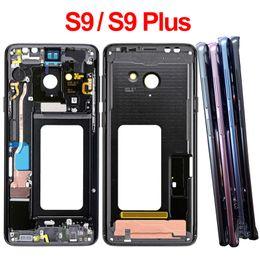 Für Samsung Galaxy S9 G960F S9 + S9 Plus-G965F Mittel-Feld-Gehäuse Lünette vorne Chassis-Rahmen mit seitlichen Knöpfen Ersatzteile im Angebot