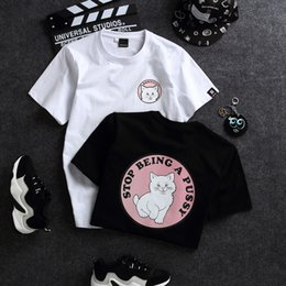 Cat T Shirts For Women Australia - Summer Designer Women T-shirts New Cute Cat Print Shirts for Women Casual Women's Tops & Tees Relax Clothing S-2XL