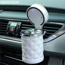 venda por atacado Universal Portable carro cinzeiro fumaça do cigarro do carro cinzeiro luz LED azul sem fumaça adequada todos dropshipping acessório