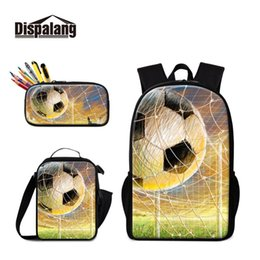 student lunch boxes UK - Classic Campus Students Rucksack with Lunch Case and Pencil Box Boys Bag Moving Customize Your Own Pattern 3PCS in 1 Set