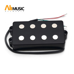 music bass guitar Canada - Open Bass Guitar Pickup 4 String Double Coil Humbucker Pickup Ceramic Magnet 54MM 57MM for Music Style Bass Guitar Accessories