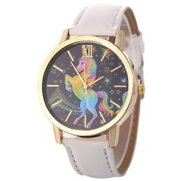 $enCountryForm.capitalKeyWord Australia - Unicorn watch men women waterproof quartz jewelry student couple wristwatch kids gift children leather belt watch cny1316