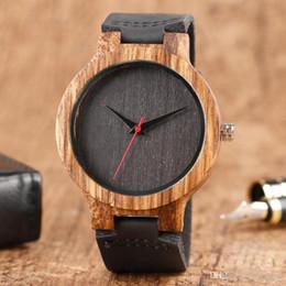 c775518f0 Top Presente Relógios De Madeira dos homens Únicos 100% Natureza De Bambu  De Madeira Artesanal de Quartzo Relógio de Pulso Masculino Esporte Relógio  de Mãos ...