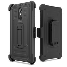 high impact case UK - For Alcatel 7 Folio 1X Evolve ZTE N9137 N9517 High Impact Resistant Armor Holster Defender Shock Absorption Protective Phone Case Cover