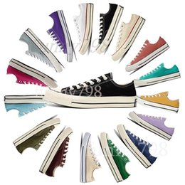 $enCountryForm.capitalKeyWord Australia - 1970s high quality Brand New 20 Colors All Size 35-44 High Top sole star Low Top Classic Canvas Shoe Sneakers Men Women Casual shoes