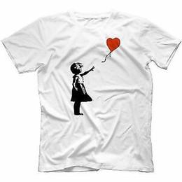 $enCountryForm.capitalKeyWord Australia - Banksy Girl With Balloon T Shirt 100 Cotton Funny Urban Graffiti Art Banksey