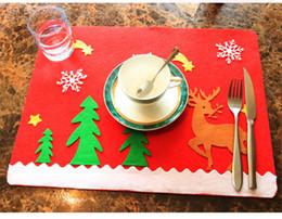 $enCountryForm.capitalKeyWord Australia - Santa Claus Tableware Place Mat Christmas Table Mat Cutlery Holder Spoon Fork Knife Pocket Bag Party and Christmas Decorations A02