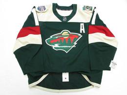 Minnesota Wild Jerseys Australia - Cheap custom PARISE MINNESOTA WILD STADIUM SERIES TEAM ISSUED JERSEY stitch add any number any name Mens Hockey Jersey XS-6XL