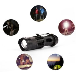 Wholesale Free epacket Colors Flash Light W LM CREE Q5 LED Camping Flashlight Torch Adjustable Focus Zoom waterproof flashlights Lamp wcw646