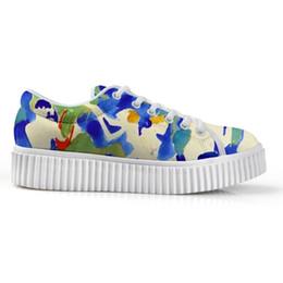 Paint Art 3d NZ - Explosion Models Women Shoes Low Top White Platform Bottom Shoes For Female Super Light Customizable 3D Art Painting Print