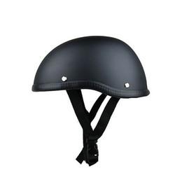 $enCountryForm.capitalKeyWord Australia - Skull Cap Motorcycle Helmet Vintage Half Face Helmet Retro German Style chopper Cruiser