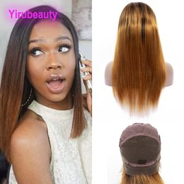 $enCountryForm.capitalKeyWord Australia - Indian Virgin Hair Products 1B 30 Ombre Hair Full Lace Wig 8-36inch 1B 30 Two Tones Color Straight Full Lace Wigs