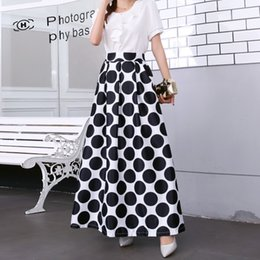91203dca6 Plus size Maxi Skirt Summer 2019 Fashion Vintage High Street A-line High  Waist Floral Polka Dot Long Skirts for Women Jupe Longa