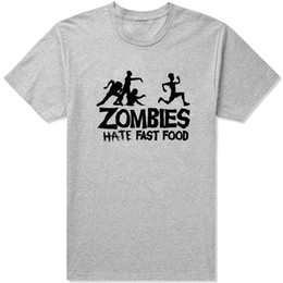 $enCountryForm.capitalKeyWord Australia - Food t shirt Zombies hate fast short sleeve tees Funny style gown tops Fadeless print clothing Pure color colorfast modal Tshirt