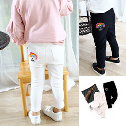 $enCountryForm.capitalKeyWord NZ - 2019 Fashion Spring Autumn Children's Clothing Skinny Full Length Trousers Casual Pencil Girls Leggings Rainbow Pants