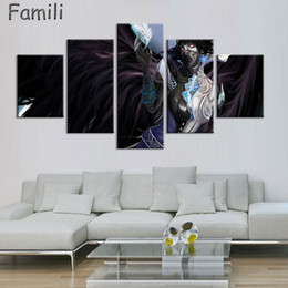 $enCountryForm.capitalKeyWord Australia - 5Panel canvas art Printed fantasy angels warrior Painting Canvas Print room decor print poster picture canvas