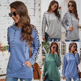 winter sweatshirt women clothing Australia - Women Winter Hooded Printed Pocket Long Sleeve Zipper Patchwork Sweatshirts Womens Designer Clothing Lady Casual Tops 07