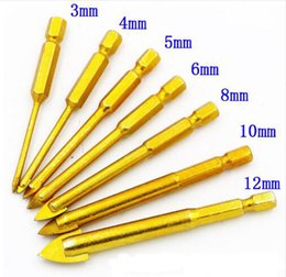 $enCountryForm.capitalKeyWord Australia - Titanium Coated Glass Drill Bits Set 3 4 5 6 8 10 12mm with Hex Shank for Ceramic Tile Marble Mirror&Glass