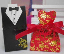 $enCountryForm.capitalKeyWord NZ - 2019 Creative Red Wedding Candy Boxes Gift Wedding Dress Candy Bag the Bride and Groom Suit Paper Kraft Candy Box