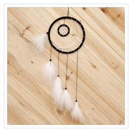 hanging wind chimes wholesale Australia - Fashion Jewelry Dream Catcher Hanging Summer Feathers Car Wall Hanging Art Wind Chime Hanging Home Decor Decoration American Wedding Suppli