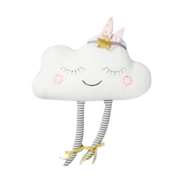 Discount cool new toys for kids - lucky Boy Sunday New Ins Cloud Plush Pillow Soft Cushion Kawaii Cloud Stuffed Plush Toys For Children Baby Kids Pillow G