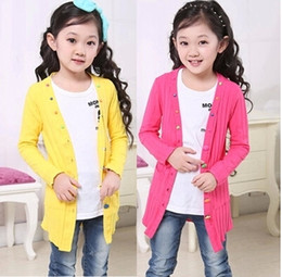$enCountryForm.capitalKeyWord Australia - spring children clothes baby long-sleeved long style thin girls cardigan sweaters for kids girls knitting sweater coat top C31