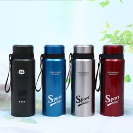 OutdOOr filtered water bOttle online shopping - Portable Outdoor Travel Sports Tumbler High Grade Stainless Steel Vacuum Cup Fashion Vehicle Water Bottle With Filter nj Ww