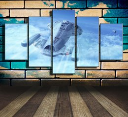 Clouds art modern painting online shopping - Voyager Star Trek Above Clouds Space Craft Flight Pieces Home Decor HD Printed Modern Art Painting on Canvas Unframed Framed