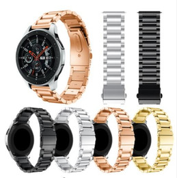 Gear Smart Watches Australia - 22mm 20mm Universal Stainless Steel band for Samsung Gear S3 Classic S3 Frontier galaxy watch 46mm 42mm Adjustable Stainless Steel Strap
