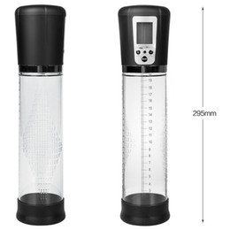 Chinese  Electric Male Penis Pump Vacuum Pump Auto-Powered Strong Suction Air LCD Screen Penes Enlargerment Extender Sex Toy For Men manufacturers
