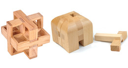 $enCountryForm.capitalKeyWord UK - 2pcs lot 3d Wooden Brain Teaser Puzzle Game For Adults And Kids