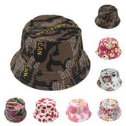 baby helmet hats Australia - 2018 Fashion Toddler Baby Kids Boys Girls Floral Pattern Bucket Hats Sun Helmet Cap High Quality Lovely Gift