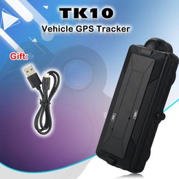Discount rechargeable batteries for gps - Super Magnet GPS Tracker TK10 for Vehicle Cars IPX7 10000mAh long Battery Removable Rechargeable SD Offline Offline Data