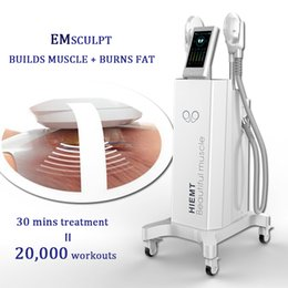 muscle pulse machine Canada - Electromagnetic Pulses Muscles Stimulate Body Slimming Machine Emslim Beauty equipment long time operation without any overheating issue
