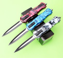 Queen knifes online shopping - butterfly benchOTFmade Queen Bee dual action D E Hunting automatic Folding Pocket Knife Survival Knife Xmas gift for men