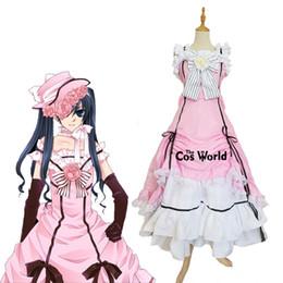$enCountryForm.capitalKeyWord NZ - Accessories Cosplay Costumes Black Butler Kuroshitsuji Ciel Phantomhive Sleeveless Lace Maid Court Full Dress Uniform Outfit Anime Cospla...