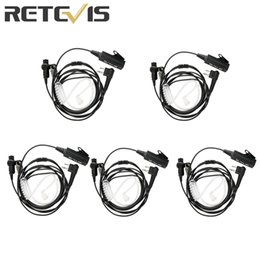 Wholesale 5pcs Retevis EA100M Pin Acoustic Tube Radio Earpiece For Motorola Walkie Talkie Headset With Big MIC PTT