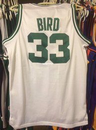 f13199b0580 Cheap wholesale Larry Bird 33# AD Jersey Men Pierce T-shirt vest Stitched  Basketball jerseys Ncaa