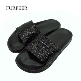 flip flop bling NZ - Women New Brand Flat Non-slip Bling Slippers Lady's Sequined Cloth Indoor Slides Women Fashion Beach Flip Flops Drop Shipping