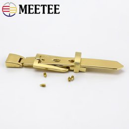 $enCountryForm.capitalKeyWord NZ - Meetee Bag Hardware Accessories 11.7cm Gold Metal Bag Belt Pin Buckle for DIY Sewing Bags Decoration Clothing Accessories Craft