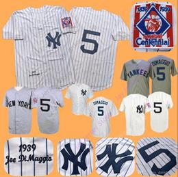 1e8115c843e Joe DiMaggio Jersey Yankees MN 1939 Cooperstown Boston Braves Cream White  Pinstripe Grey Black Home Away All Stitched