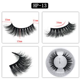 Single False Eyelashes Australia - 3D mink hair false eyelashes HP13 single pair round box packaging eyelashes Europe and the United States thick natural factory direct sales
