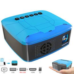 Mini Video Proyector Australia - U20 Mini Micro Projectors USB HDMI AV LED Video Portable Projector For Home Theater Movie Beamer Proyector Portatil