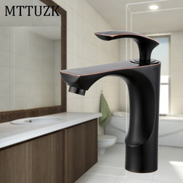 paint kitchen faucet Australia - MTTUZK ORB and white color Brass Paint bathroom basin mixer tap sink basin faucet kitchen mixer tap deck mounted Bathroom faucet