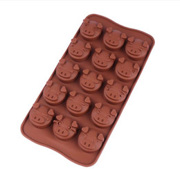 Silicone animal cake mould online shopping - 15 Holes Funny Pig Animal Silicone Mold Fondant Chocolate Kitchen Mould Silicone Chocolate Cookies Cake Soap Candy DIY Mold