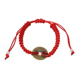 feng shui lucky coin 2019 - Chinese Feng Shui Wealth Lucky Copper Coin Pendant Red String Bracelets Jewelry cheap feng shui lucky coin