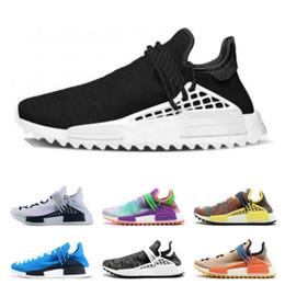 Cheap Racing NZ - Cheap PW HU trail x Athletic Shoes for Men Women human race Yellow Black White Equality NERD blue womens sports sneaker drop shipping