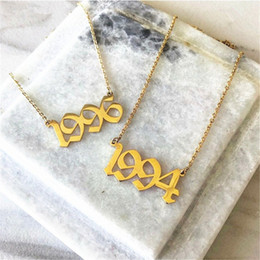 $enCountryForm.capitalKeyWord Australia - Handmade Personalized Old English Number Necklace Personalized Wedding Anniversary Year Date Gift Custom Jewelry