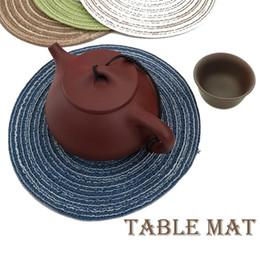 $enCountryForm.capitalKeyWord Australia - New Fashion Home Round Insulation Table Mat Hand-made Weaving Non-slip Plate Bowl Mat Fashion Non-slip Table Mat